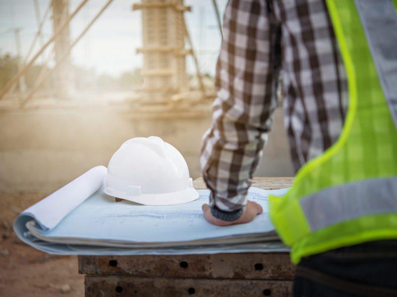 Engineer,Working,On,Building,Site